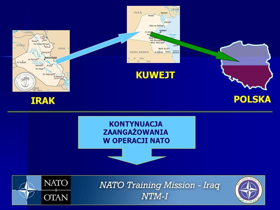 IRAK POLSKA KUWEJT KONTYNUACJA ZAANGAŻOWANIA W OPERACJI NATO