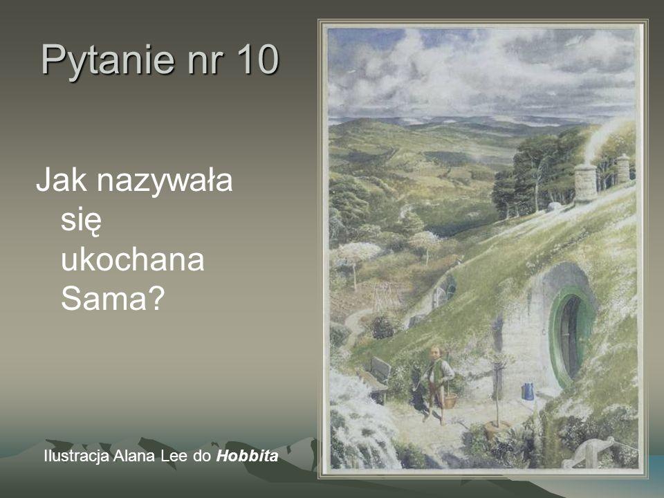 Pytanie nr 10 Jak nazywała się ukochana Sama? Ilustracja Alana Lee do Hobbita