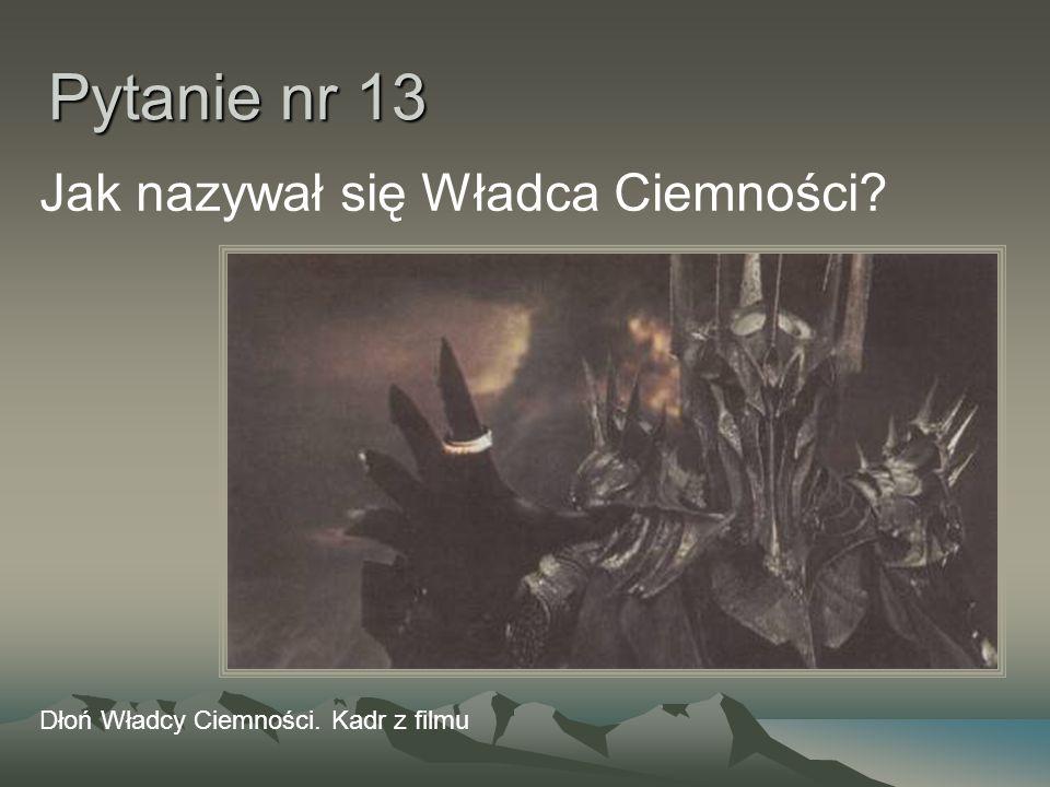 Pytanie nr 13 Jak nazywał się Władca Ciemności? Dłoń Władcy Ciemności. Kadr z filmu