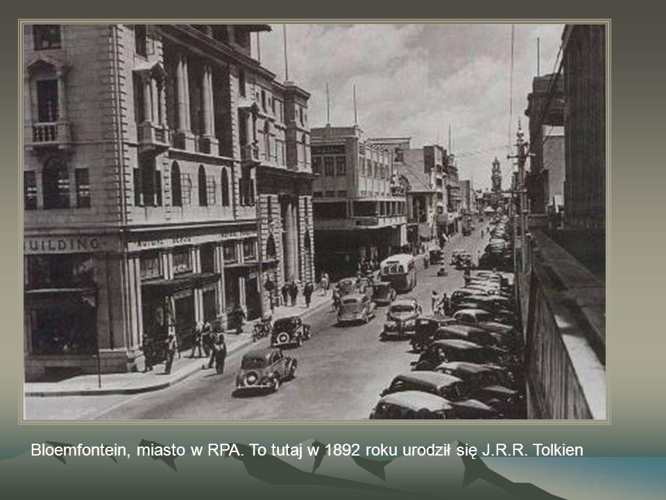 Bloemfontein, miasto w RPA. To tutaj w 1892 roku urodził się J.R.R. Tolkien