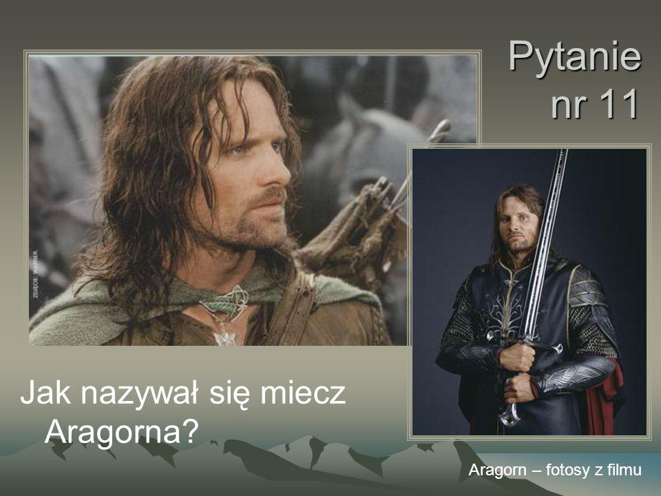 Pytanie nr 11 Jak nazywał się miecz Aragorna? Aragorn – fotosy z filmu