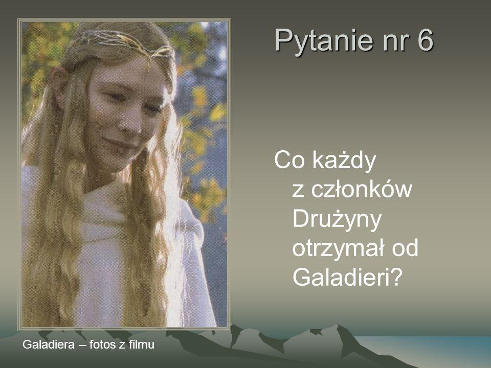 Pytanie nr 6 Co każdy z członków Drużyny otrzymał od Galadieri? Galadiera – fotos z filmu