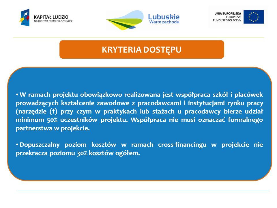 W ramach projektu obowiązkowo realizowana jest współpraca szkół i placówek prowadzących kształcenie zawodowe z pracodawcami i instytucjami rynku pracy
