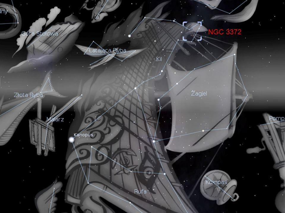 Supermasywne gwiazdy Eta Carinae Dziurka od klucza Gromada otwarta Obszary gwiazdotwórcze Luminescencja Dżety wiatru gwiazdowego Ciemne kolumny Globule Boka - inkubatory To wszystko w obszarze o rozmiarach 50 lat świetlnych!!.