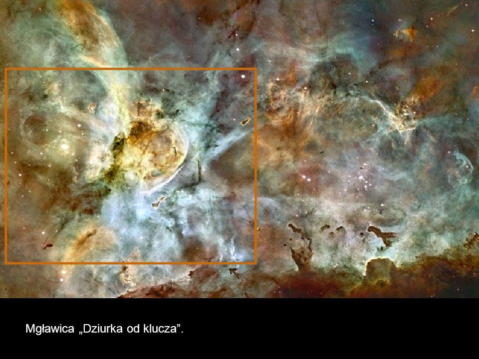 Ciemne kolumny z molekularnego wodoru wzbogaconego pyłem zawierają ukryte w szczytach nowo powstające gwiazdy.
