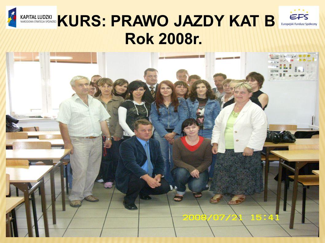 KURS: PRAWO JAZDY KAT B Rok 2008r.