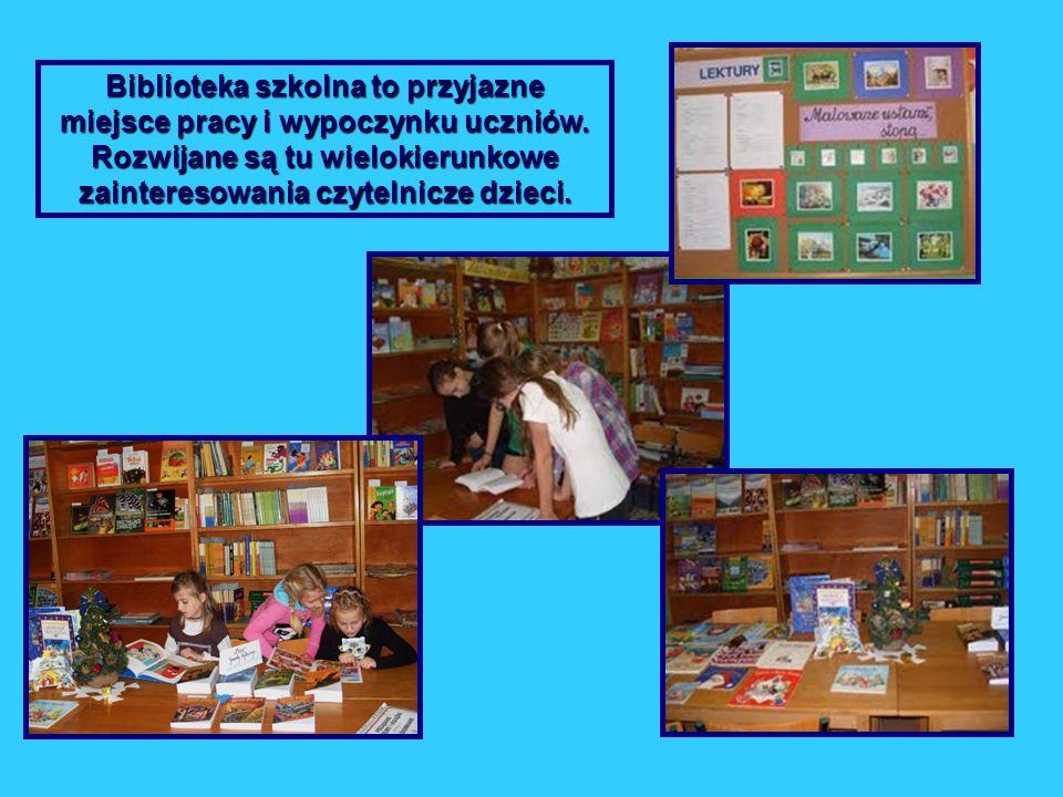 Biblioteka szkolna to przyjazne miejsce pracy i wypoczynku uczniów. Rozwijane są tu wielokierunkowe zainteresowania czytelnicze dzieci.