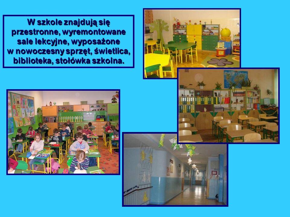W szkole znajdują się przestronne, wyremontowane sale lekcyjne, wyposażone w nowoczesny sprzęt, świetlica, biblioteka, stołówka szkolna.