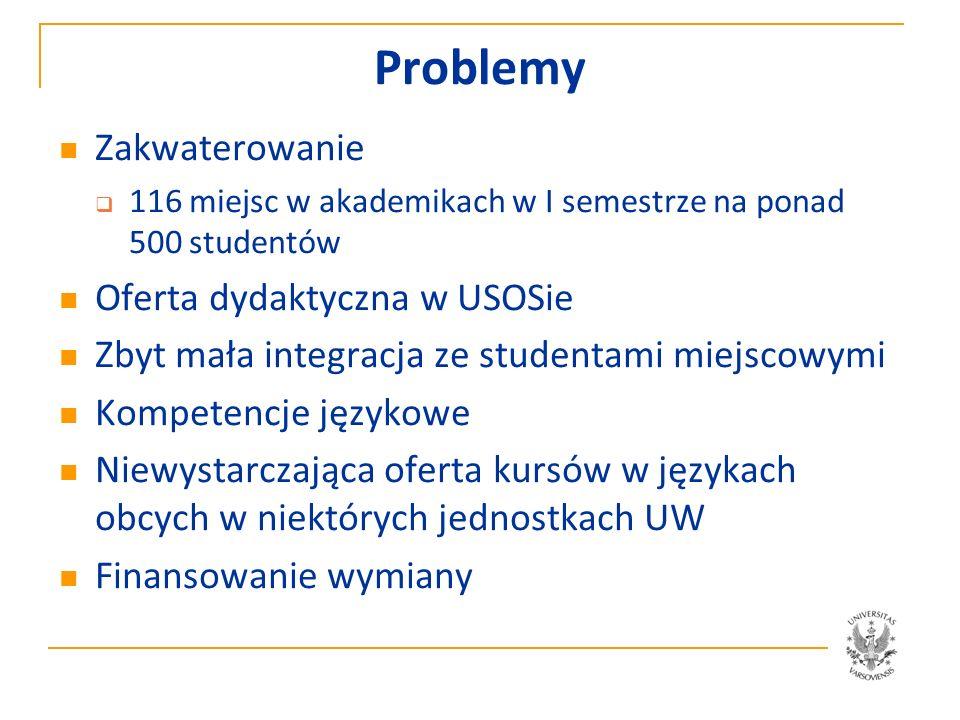 Uniwersytet Warszawski Erasmus Mundus Anna Sadecka 15.01.2012 r.