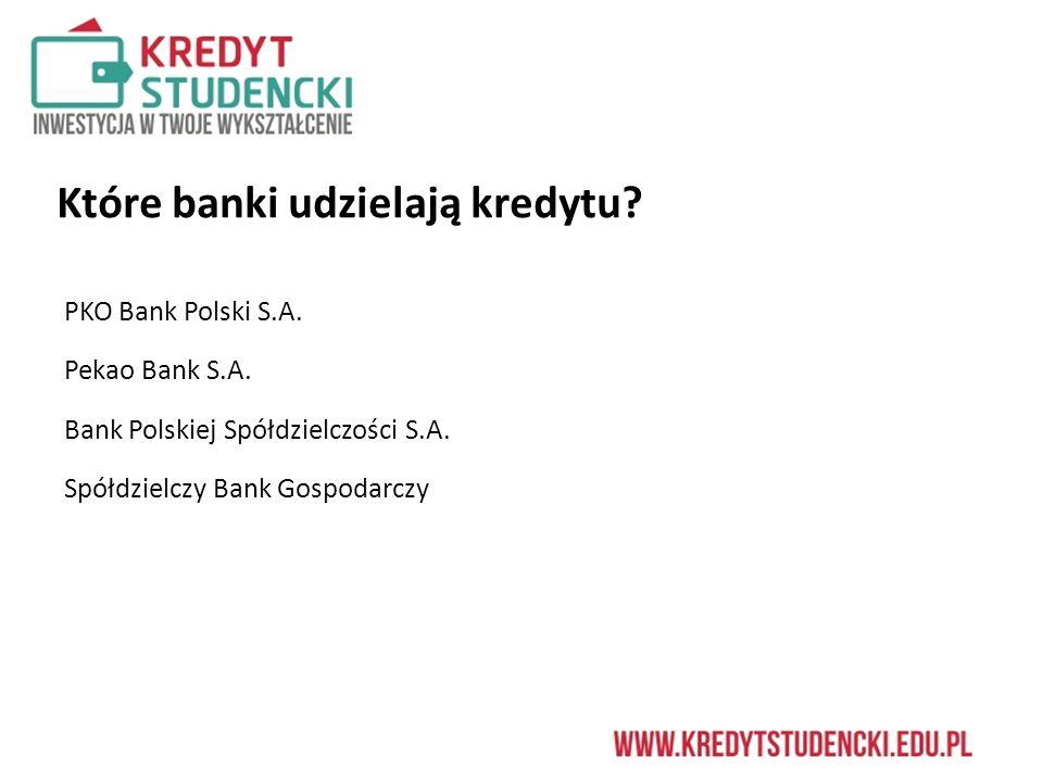 Które banki udzielają kredytu. PKO Bank Polski S.A.