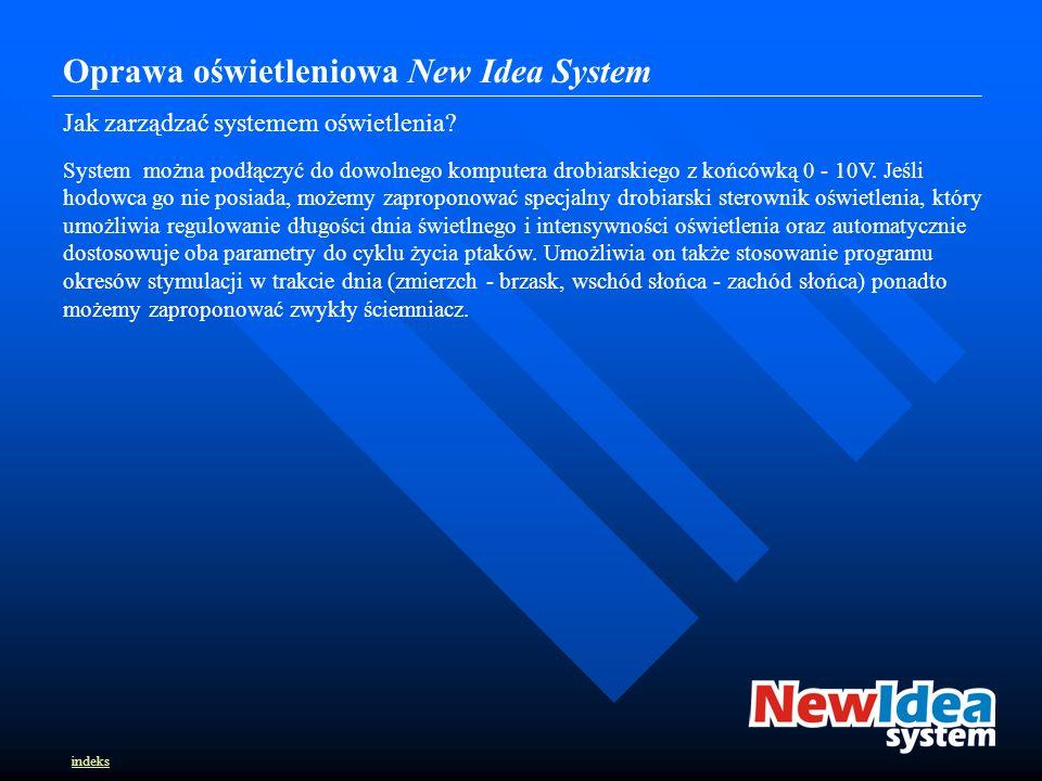 Oprawa oświetleniowa New Idea System Jak zarządzać systemem oświetlenia.