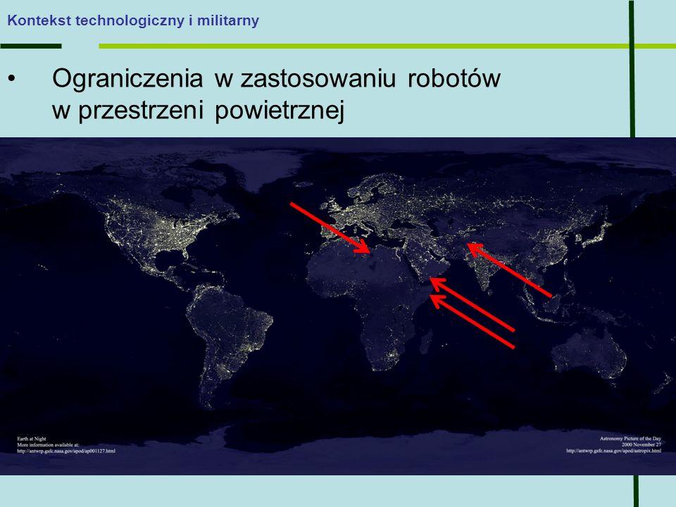 Ograniczenia w zastosowaniu robotów w przestrzeni powietrznej Kontekst technologiczny i militarny