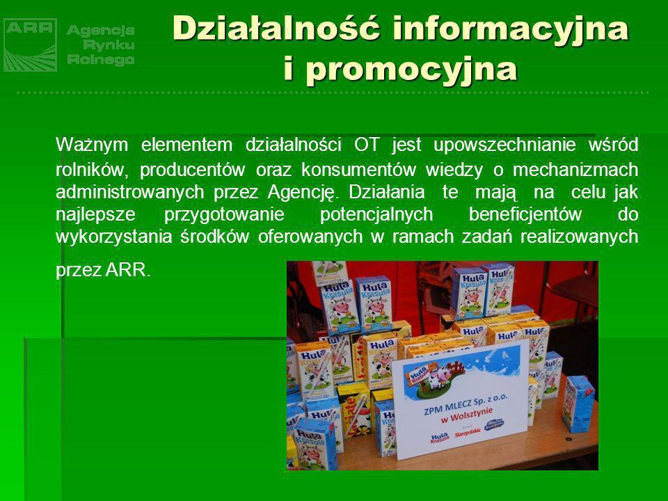 Działalność informacyjna i promocyjna Ważnym elementem działalności OT jest upowszechnianie wśród rolników, producentów oraz konsumentów wiedzy o mech