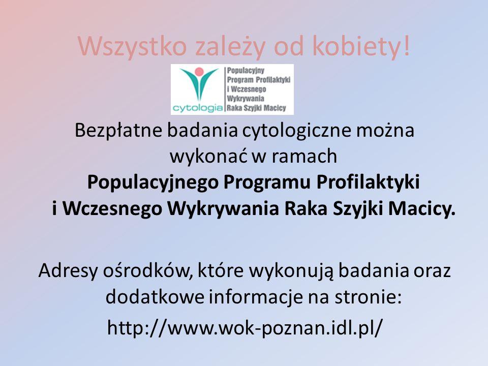 Wszystko zależy od kobiety! Bezpłatne badania cytologiczne można wykonać w ramach Populacyjnego Programu Profilaktyki i Wczesnego Wykrywania Raka Szyj