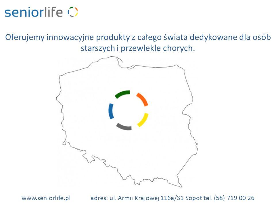 Oferujemy innowacyjne produkty z całego świata dedykowane dla osób starszych i przewlekle chorych.