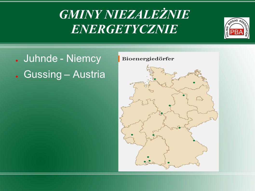 Juhnde - Niemcy Gussing – Austria GMINY NIEZALEŻNIE ENERGETYCZNIE