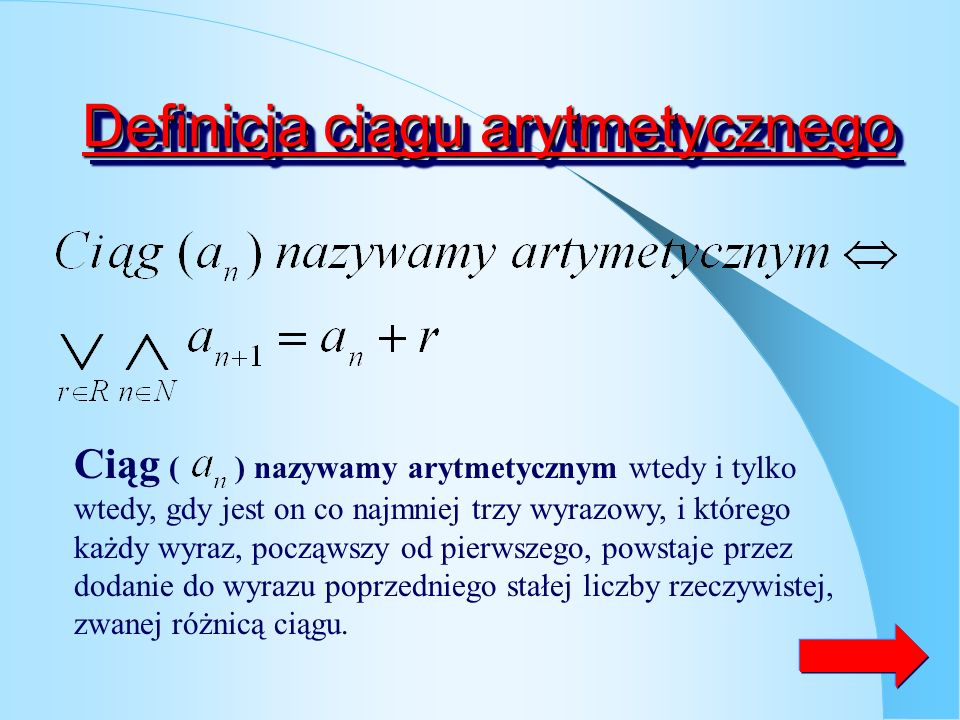 Ciąg niemalejący Ciąg ( ) nazywamy niemalejącym wtedy i tylko wtedy gdy dla każdej liczby naturalnej n różnica dwóch kolejnych wyrazów ciągu jest mnie