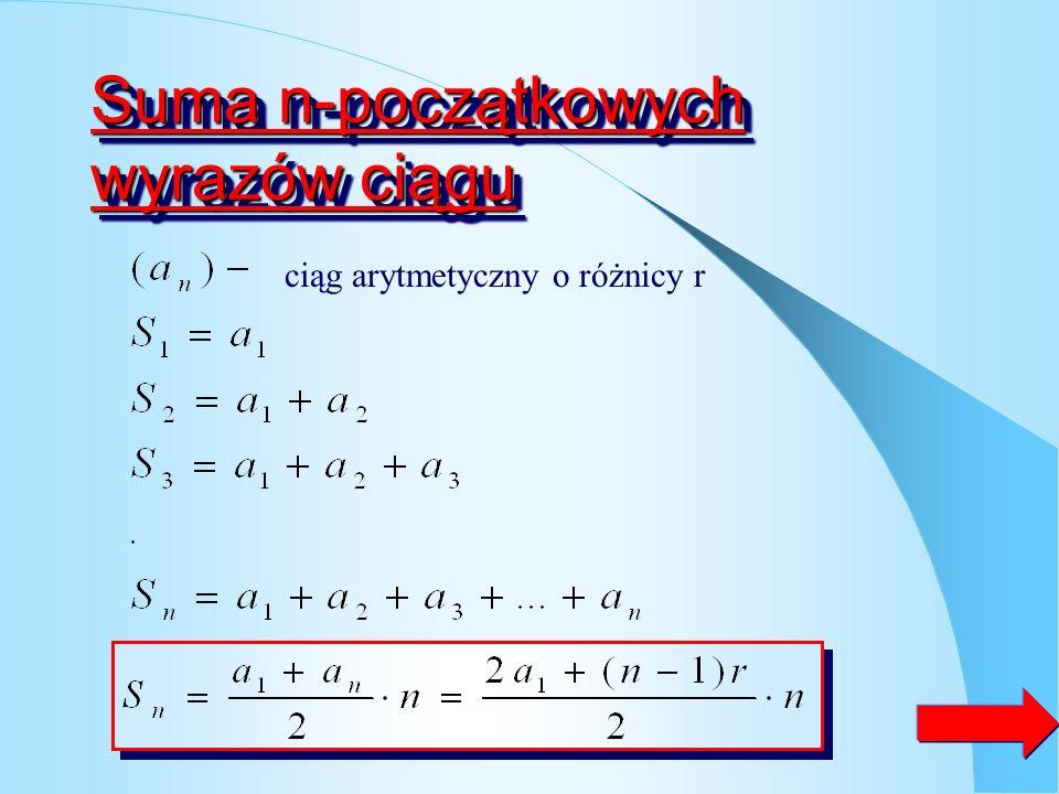 ZadanieZadanie Drugi wyraz ciągu arytmetycznego wynosi 3 a szósty 4. Wyznacz pierwszy wyraz i różnice ciągu Odp. Pierwszy wyraz tego ciągu wynosi 0,25