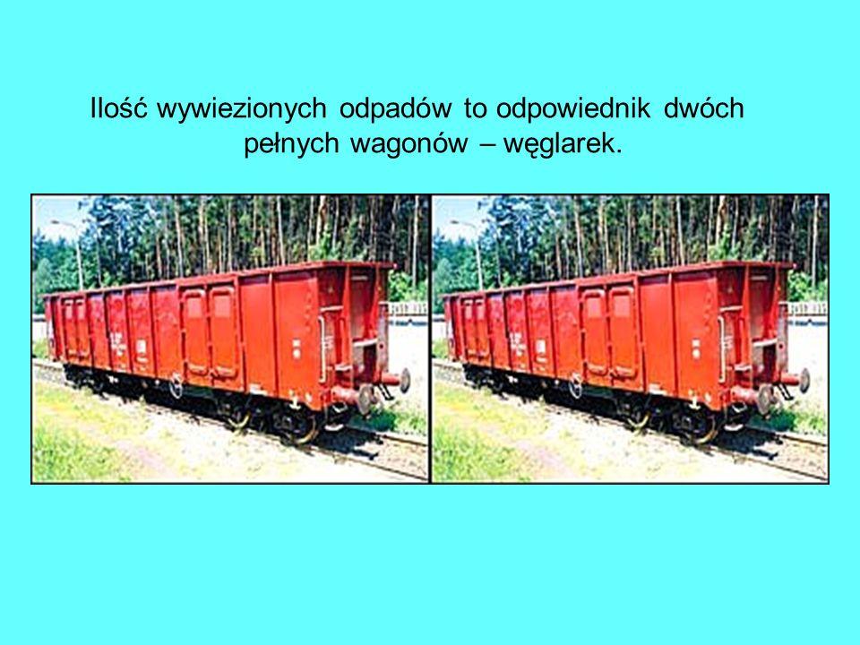 Ilość wywiezionych odpadów to odpowiednik dwóch pełnych wagonów – węglarek.