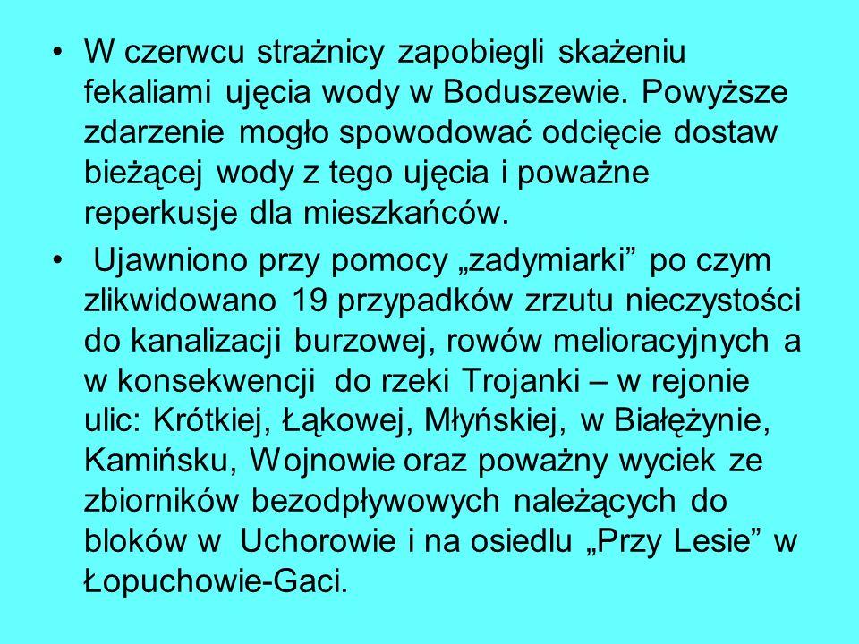 W czerwcu strażnicy zapobiegli skażeniu fekaliami ujęcia wody w Boduszewie.