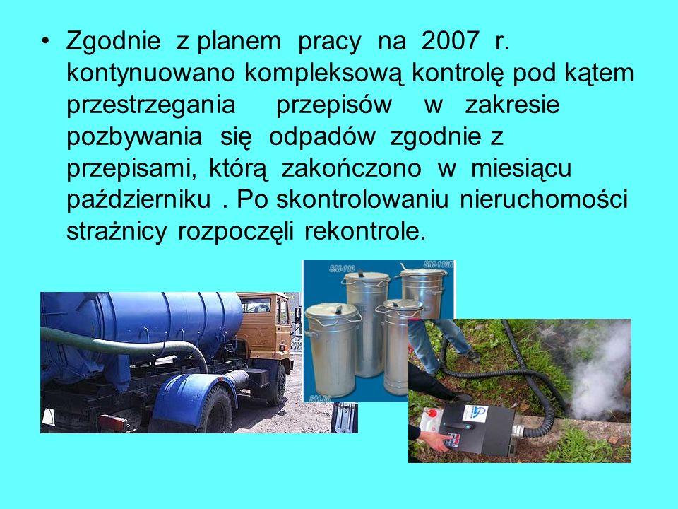 Zgodnie z planem pracy na 2007 r.