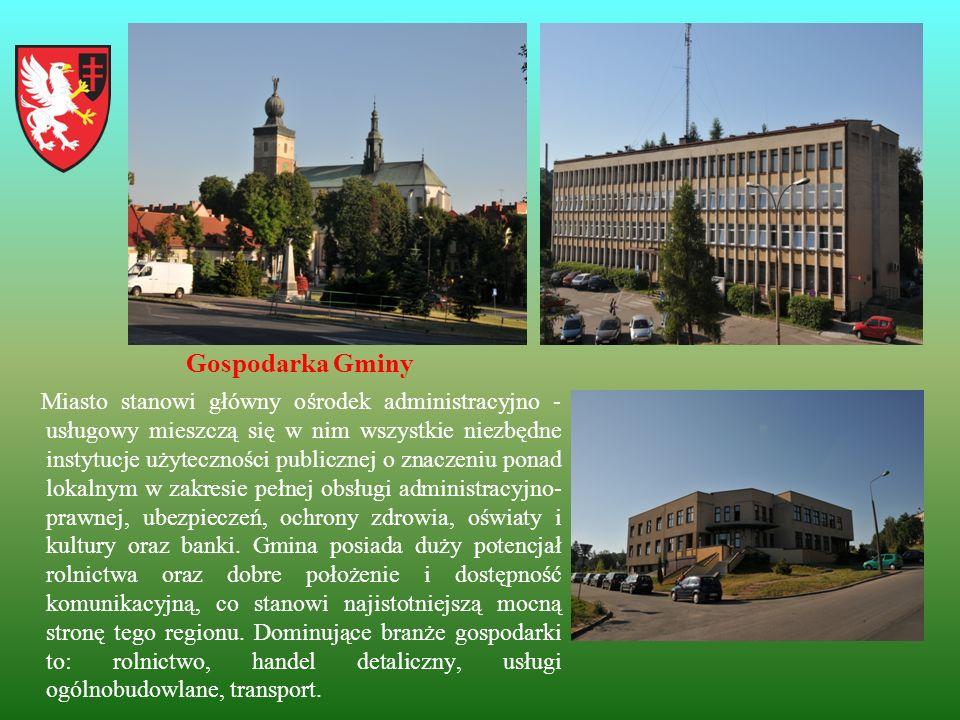 Gospodarka Gminy Miasto stanowi główny ośrodek administracyjno - usługowy mieszczą się w nim wszystkie niezbędne instytucje użyteczności publicznej o