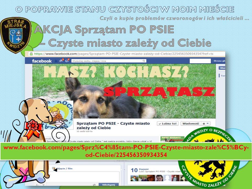 www.facebook.com/pages/Sprz%C4%85tam-PO-PSIE-Czyste-miasto-zale%C5%BCy- od-Ciebie/225456350934354