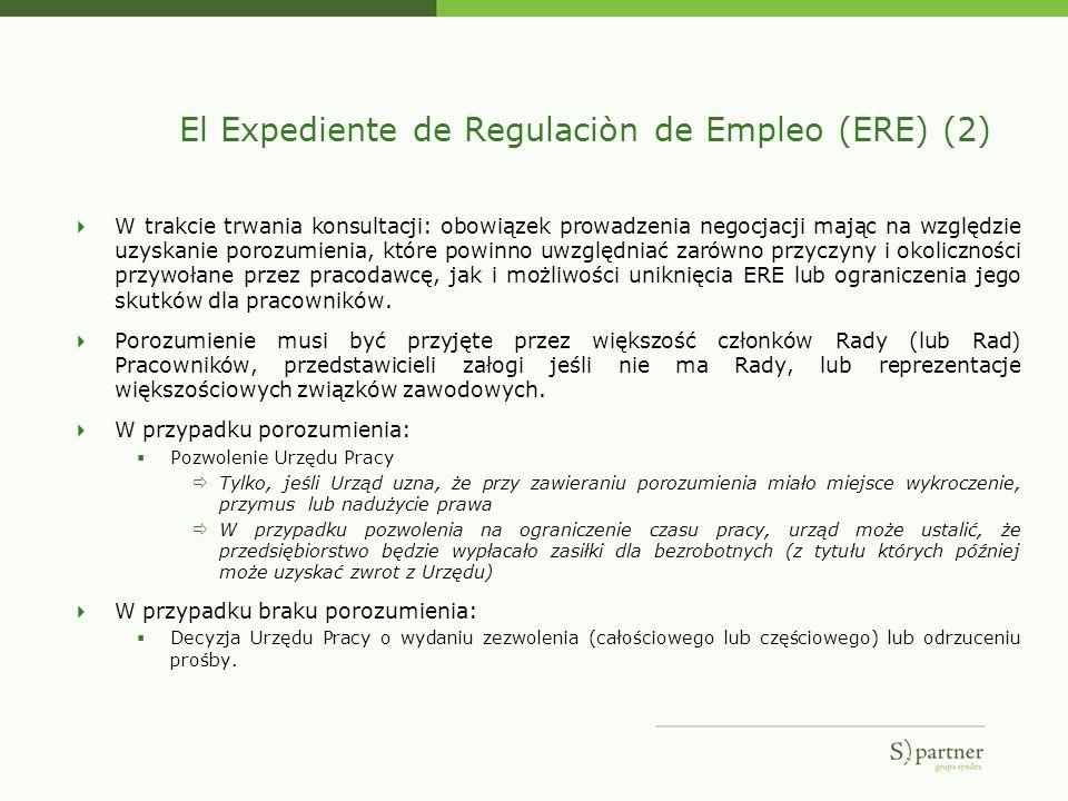 El Expediente de Regulaciòn de Empleo (ERE) (2) W trakcie trwania konsultacji: obowiązek prowadzenia negocjacji mając na względzie uzyskanie porozumie