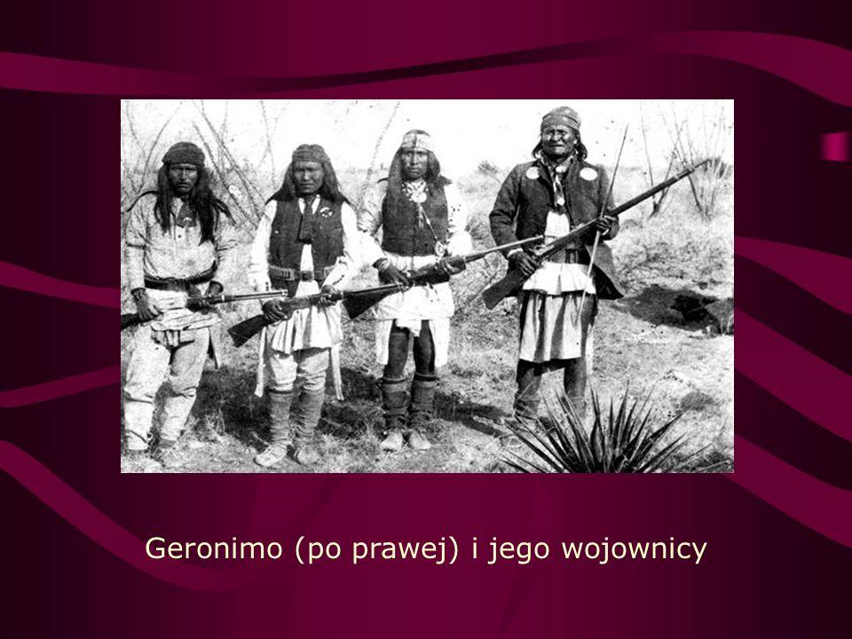 Geronimo (po prawej) i jego wojownicy