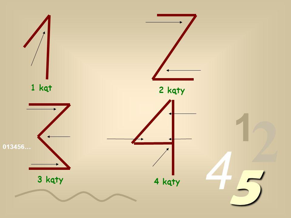 013456… 1 2 4 5 1 kąt 2 kąty 3 kąty 4 kąty