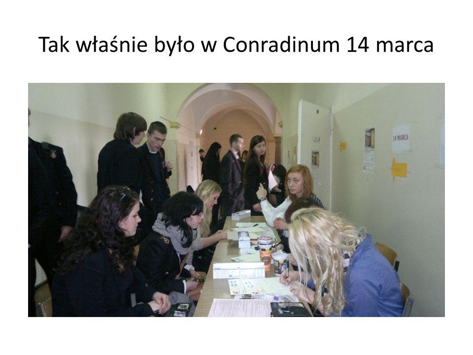 Tak właśnie było w Conradinum 14 marca