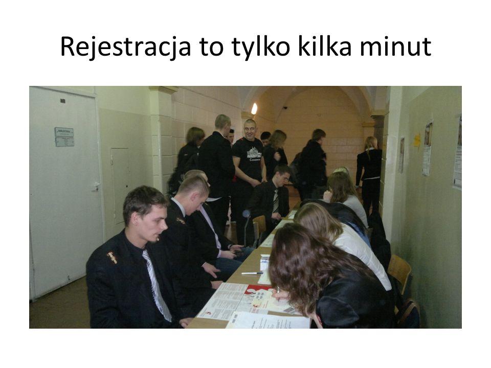 Rejestracja to tylko kilka minut