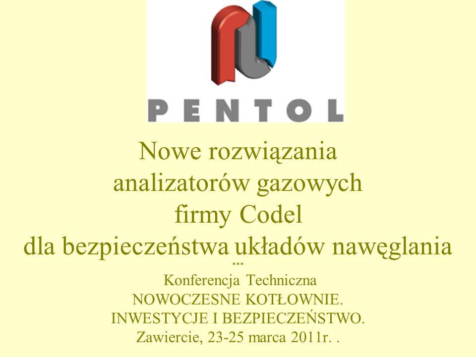 Nowe rozwiązania analizatorów gazowych firmy Codel dla bezpieczeństwa układów nawęglania *** Konferencja Techniczna NOWOCZESNE KOTŁOWNIE.