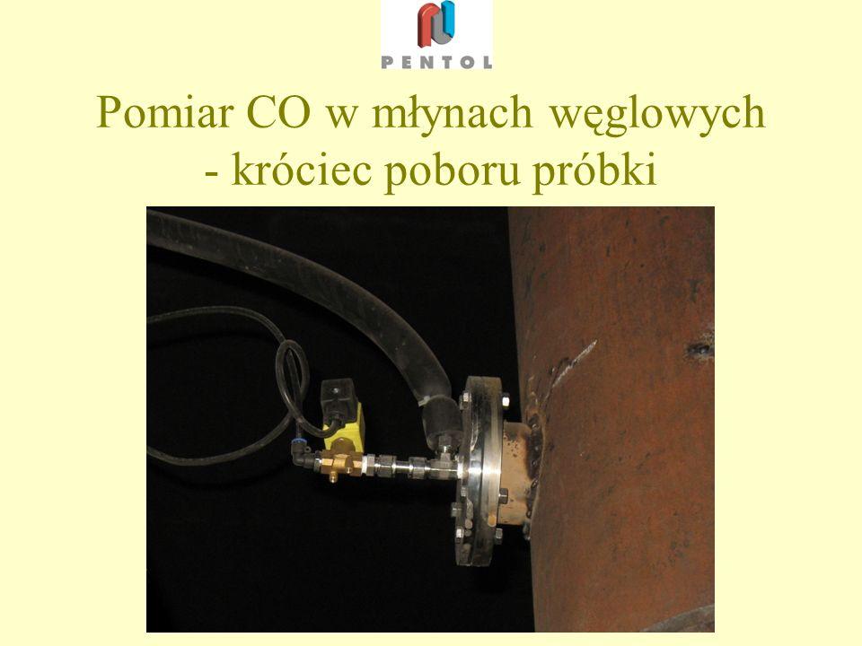 Pomiar CO w młynach węglowych - króciec poboru próbki