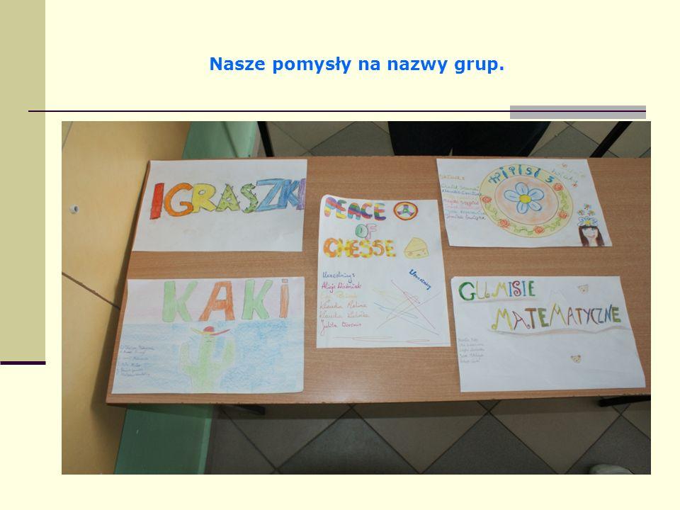 Nasze pomysły na nazwy grup.