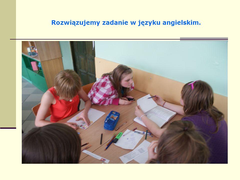 Rozwiązujemy zadanie w języku angielskim.