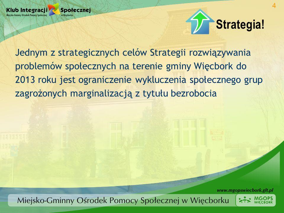 Jednym z strategicznych celów Strategii rozwiązywania problemów społecznych na terenie gminy Więcbork do 2013 roku jest ograniczenie wykluczenia społe