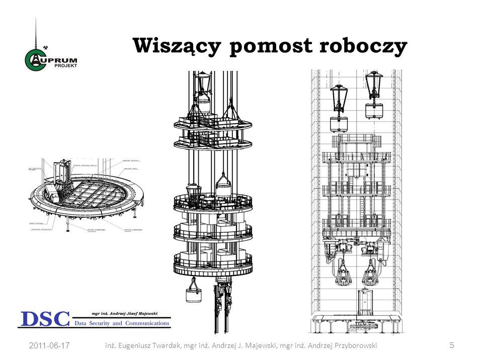 2011-06-17inż. Eugeniusz Twardak, mgr inż. Andrzej J. Majewski, mgr inż. Andrzej Przyborowski5 Wiszący pomost roboczy