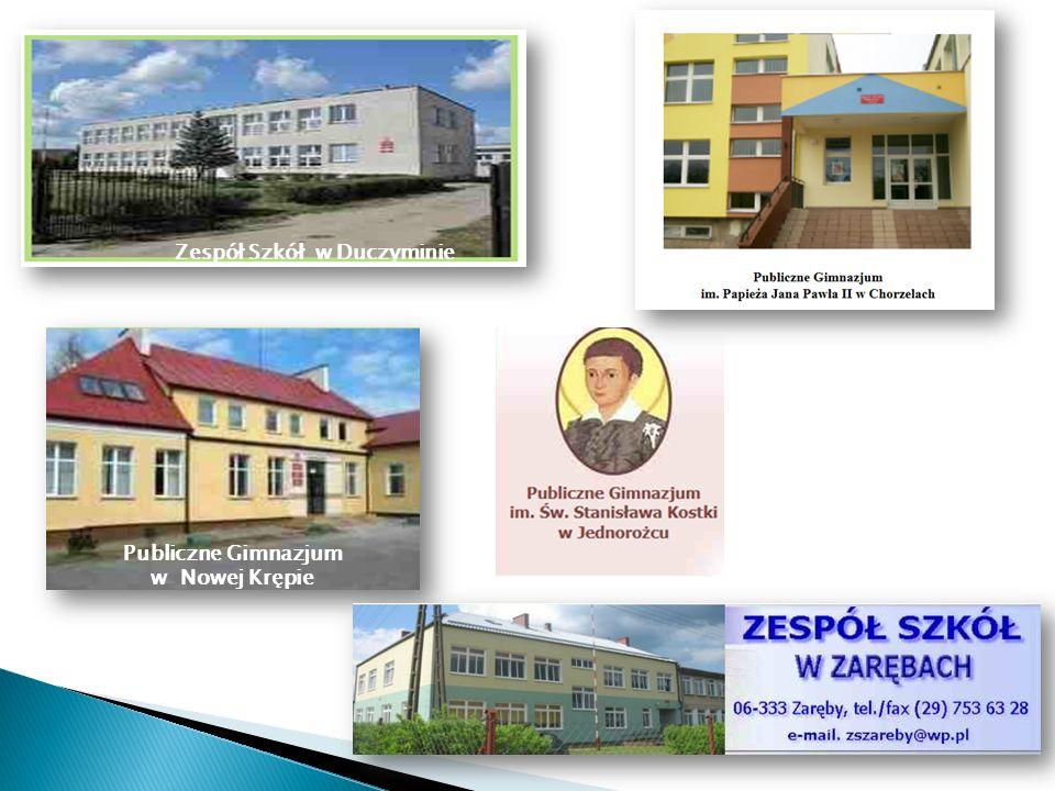 w Pościeniu Publiczna Szkoła Podstawowa w Mchowie Publiczna Szkoła Podstawowa w Obrębie