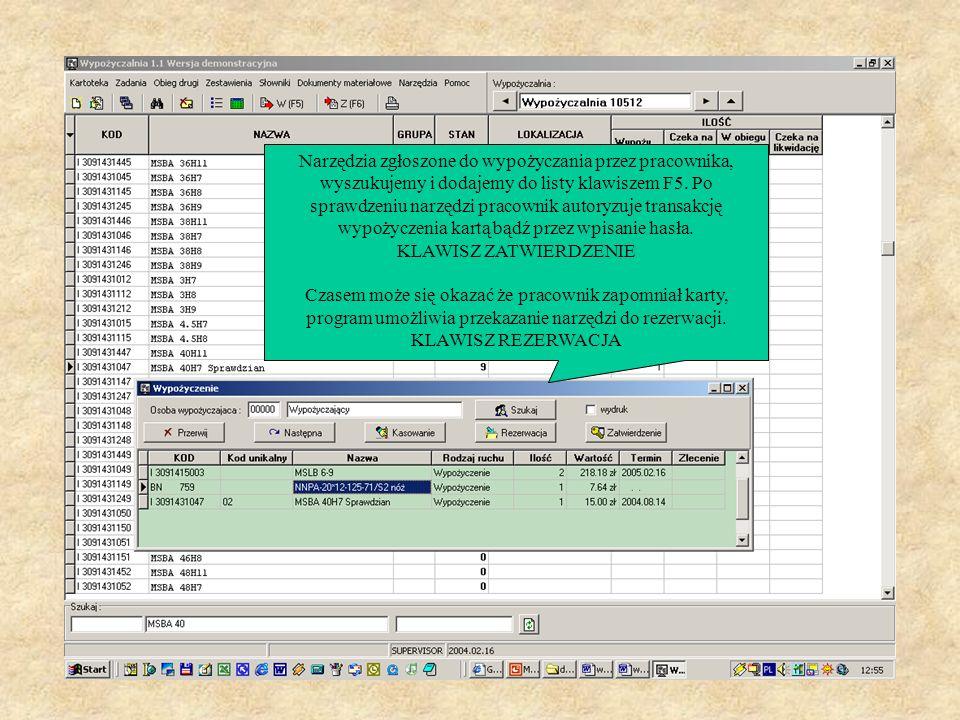 Następną ważną rzeczą przy pracy z programem jest dobre ułożenie stanowiska komputerowego w wypożyczalni, tak aby zapewnić możliwość kontroli danych p