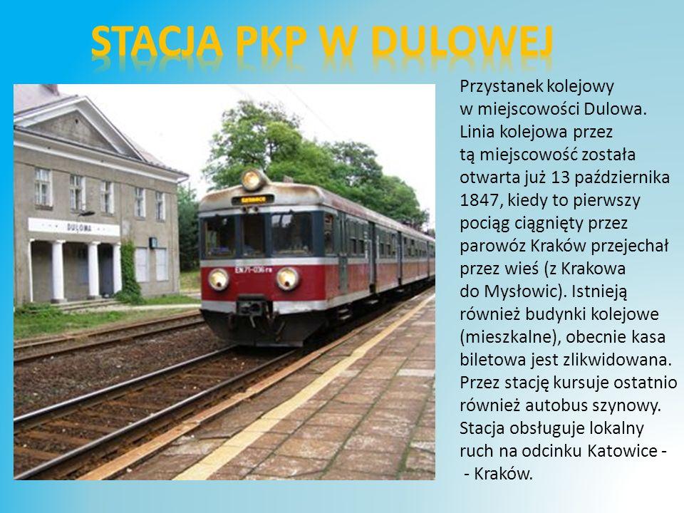 Przystanek kolejowy w miejscowości Dulowa.