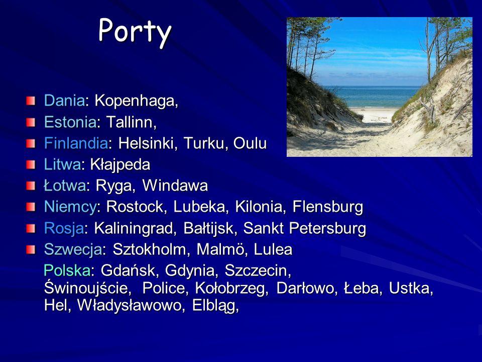 Porty Dania: Kopenhaga, Estonia: Tallinn, Finlandia: Helsinki, Turku, Oulu Litwa: Kłajpeda Łotwa: Ryga, Windawa Niemcy: Rostock, Lubeka, Kilonia, Flen