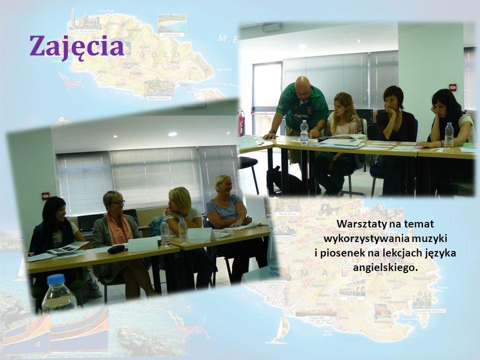 Zajęcia Warsztaty na temat wykorzystywania muzyki i piosenek na lekcjach języka angielskiego.