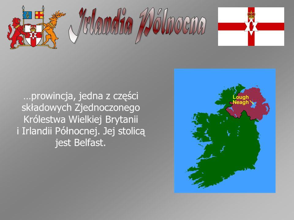…prowincja, jedna z części składowych Zjednoczonego Królestwa Wielkiej Brytanii i Irlandii Północnej. Jej stolicą jest Belfast.