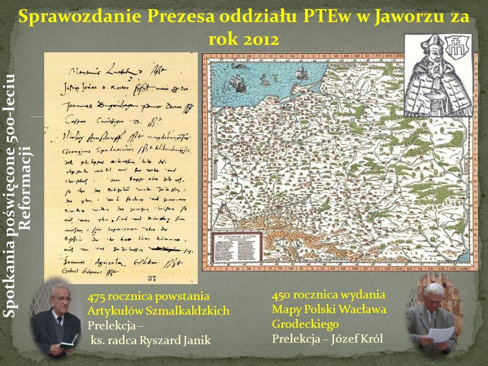 475 rocznica powstania Artykułów Szmalkaldzkich Prelekcja – ks.
