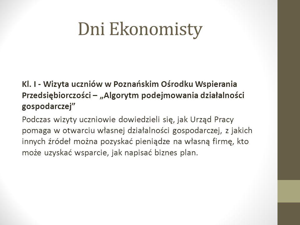 Dni Ekonomisty Kl.