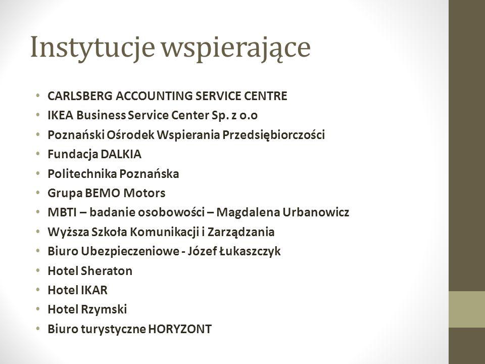 Instytucje wspierające CARLSBERG ACCOUNTING SERVICE CENTRE IKEA Business Service Center Sp.