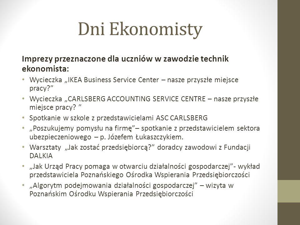Dni Ekonomisty Wycieczka klasy 1a - IKEA Business Service Center – nasze przyszłe miejsce pracy.