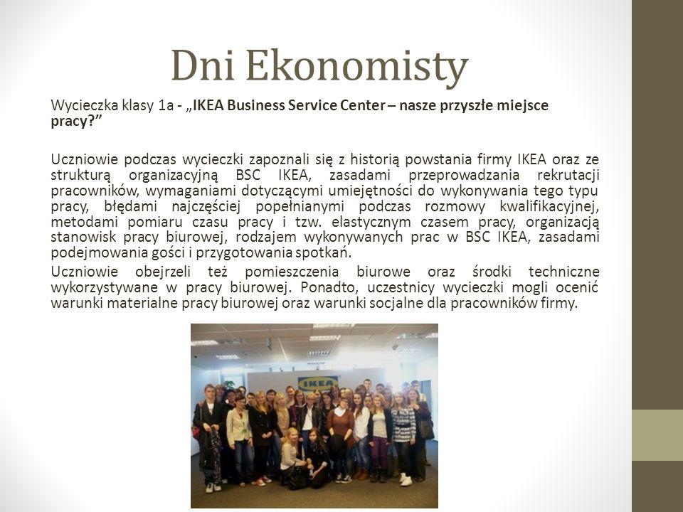 Dni Informatyka Jak Urząd Pracy pomaga w otwarciu działalności gospodarczej- wykład przedstawiciela Poznańskiego Ośrodka Wspierania Przedsiębiorczości Podczas spotkania uczniowie kl.