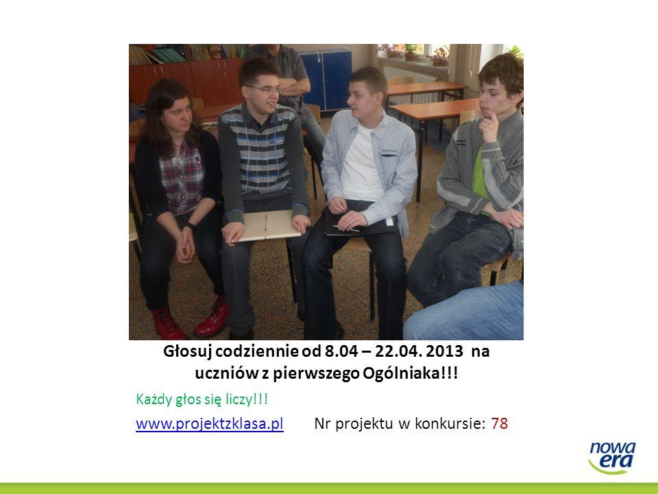 zagłosuj na nasz projekt na www.projektzklasa.pl Projekt numer - 78 Pomóż nam zrealizować edukacyjną przygodę